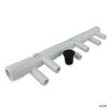 "Waterway | MANIFOLD | 2-4-6 PORT CUT TO FIT 3/4"" RIBBED BARB X .375 SMOOTH BARB 