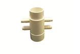 "Waterway | MANIFOLD | 4-PORT FLO-THRU 2"" SLIP X 2"" SPIGOT X .375 RIBBED BARB 