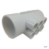 "Waterway | MANIFOLD | 6-PORT 2"" SLIP X 2"" SLIP X (6) 1/2"" SLIP 