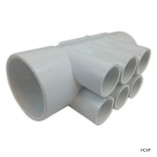 "Waterway | MANIFOLD | 6-PORT FLO-THRU 2"" SLIP X 2"" SLIP X 3/4"" SLIP 
