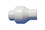 "Custom Molded Products Inc | VALVE | SWING PVC 1"" SLIP X 1"" SLIP - WHITE 
