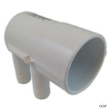 "Waterway Plastics | SP Manifold 2""s x Dead End,(4)3/4""Rib Barb(use 55-270-1519) 