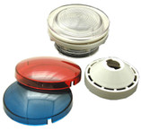 "WALL FITTING KIT | WALL FITTING KIT 2 1/2"" HOLE SIZE WALL FITTING, REFLECTOR, RED & BLUE LENS 