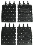 AQUA PRODUCTS | BRUSHES (Black Molded Ruber, cut in half) - Aquabot Plus RC | 3003BL4