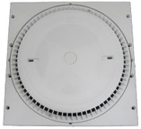 AFRAS   12 X 12 RINGPLATE AND HIGH CAPACITY COVER REPLACES MOST 12 X 12 FRAMES -GPM FLOOR 188/WALL 160 - WHITE    10064ACVGB