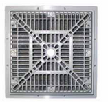 CUSTOM MOLDED PRODUCTS | 12 x 12 SQUARE FRAME & GRATE, WHITE | 25508-120-000L