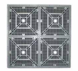CUSTOM MOLDED PRODUCTS | 18 X 18 SQUARE FRAME & GRATE, WHITE | 25508-180-000L