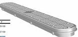 CUSTOM MOLDED PRODUCTS | 32 GUNITE CHANNEL DRAIN, FRAME & GRATE,GRAY  | 25506-321-100