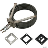 "Acura Spa Systems | Flange Element, 1-1/2"" x 1-1/2"", 5.5kW, Acura Aquaheat, T-Well 