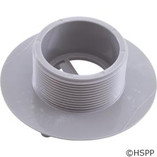"AquaStar Pool Products | Wall Fitting, 4"" dia, 2-3/8""hs, 2""mpt-1-1/2""s, Lt Gray 