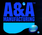 A&A Manufacturing | Cleaning Head, A&A Style II, Hi-Flow, Dk Blue | 558637