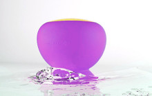 Squish | Splash Resistant Bluetooth Pool Speaker Wireless Purple and Gold | 87905
