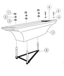 Sr Smith | Flyte-Deck II Stand | 8' Flyte-Deck Stand, White, jig included | 70-209-7382