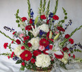 Red, White and Blue Basket Spray