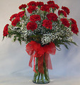 24 Valentines Carnations Bouquet