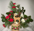 Holly and reindeer bouquet