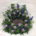 Wreath Surround Cremains Arrangement