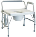 BARIATRIC DROP ARM COMMODE X-WIDE