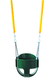 The soft grip chained full bucket swing set combo is great for toddlers. - 3 Colors - USA Made