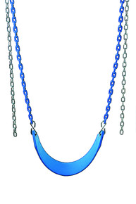 The plastisol coated chains on this swing seat combo protects little fingers from being pinched. - Multiple Colors