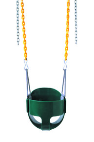 The plastisol chained full bucket swing is a blast. - 3 Colors - USA Made