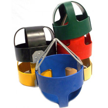 Tot Full Bucket Rubber Infant Swing Seat with Steel Core - Made in USA - Commercial Grade (S100) - USA Made - 5 Colors