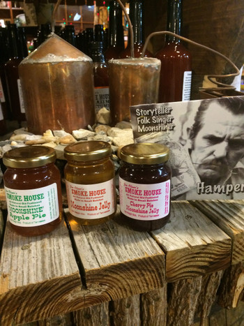 Even Hamper McBee himself recommends these great fruit jellies with a shot of MOONSHINE infused. Cherry, Apple, and of course Straight up.