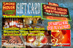 The Smoke House Gift Card is good for Lodging, Cabins, Restaurant, Gift Shop . . . all over the Smoke House. It makes the perfect gift for Anniversaries, Birthdays, Wedding Gifts, and more.