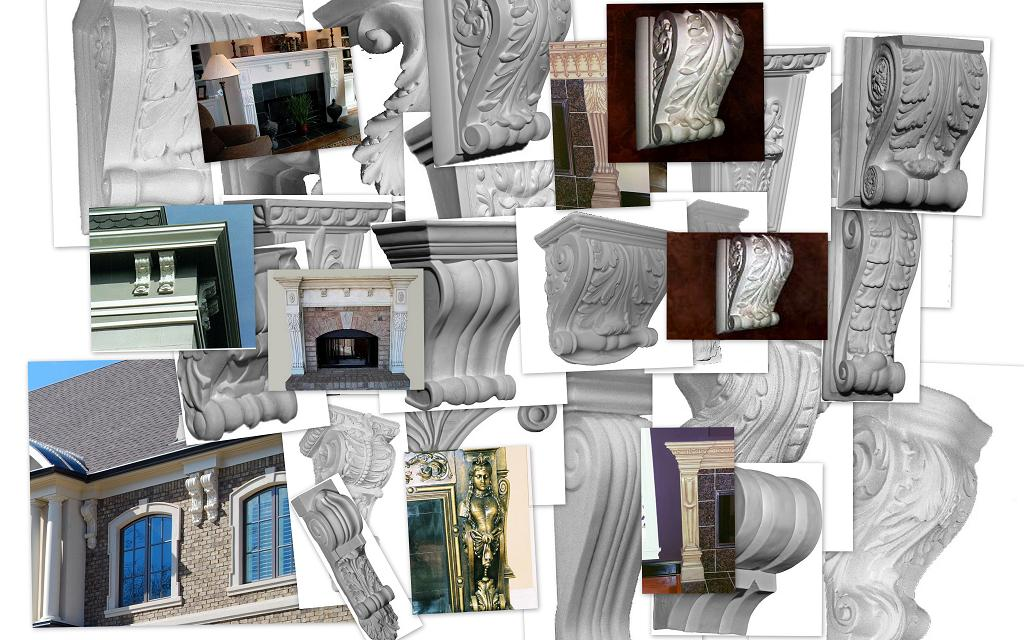 Corbels and Brackets | Decorative Wall Accents | Cast Plaster