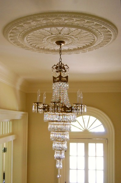 ceiling medallion with chandellier - Ceiling Medallion