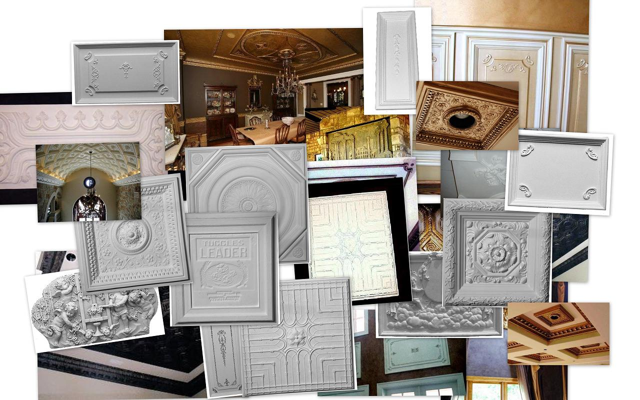 decorative cast plaster panels | ceiling panels | wall panels