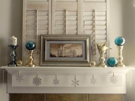 Fireplace Mantel Winter Decorating Ideas Castle Design – Simple Mantel Decor
