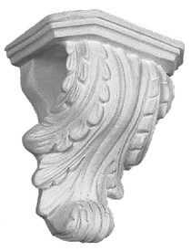 A Classic Corbel Bracket, small in size, featuring an acanthus leaf wrapping from front to the sides