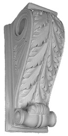 This standard size acanthus corbel is also a drapery bracket