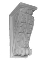 A Classic Corbel Bracket, medium size, featuring an acanthus leaf.  B3
