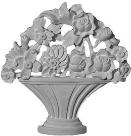 Small Flower Basket Applique - CRA109