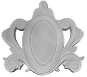 Decorative plaque Applique CRA6 featuring scrolling acanthus leaves