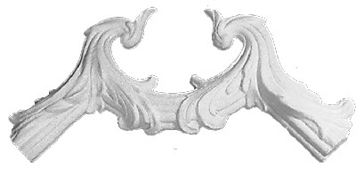 Rococo and acanthus plaster applique CRA74