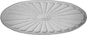 Plaster Applique CRA87 Oval Sunburst