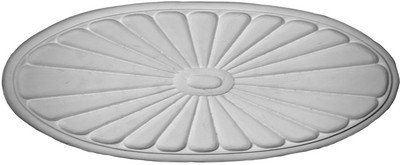 Plaster Applique CRA87 Oval Sunburst