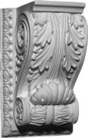 A Classic Corbel Bracket featuring acanthus leaves and ornate edge and scroll details