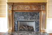 MT1004 Mantel with gold color finish