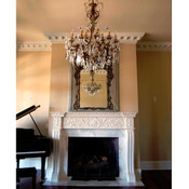 Stone Mante0 MT1004 featured with M10-48 Medallion & DM721 Crown Molding