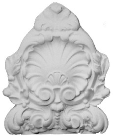 Cast plaster shell and acanthus leaves.  Accessory A10