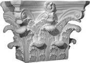 Angular - Square acanthus leaf capital Roman Corinthian