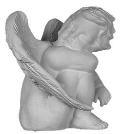 Sitting Cherub Statuette A120