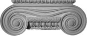 Simply elegant, this cast capital has egg and dart molding and large volutes