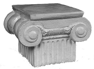 This Square Capital has large corner volutes