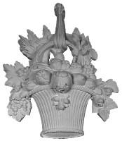 Flower Basket Applique A126