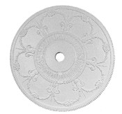 "Decorative Swags and Bows are featured on this 36"" ornamented Ceiling Medallion"